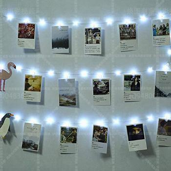 50 LEDs 30 Photo Clips String Fairy Lights Battery Powered