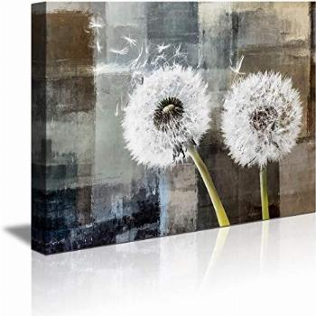 abstract Wall Art Black and white Dandelion Wall Art for