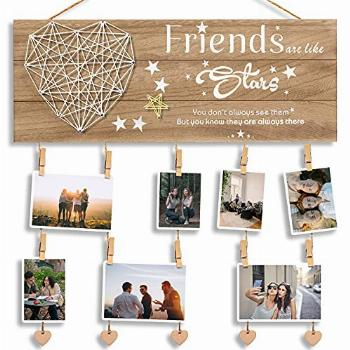 Best Friend, BFF Gifts for Women - Wooden Picture Hanging