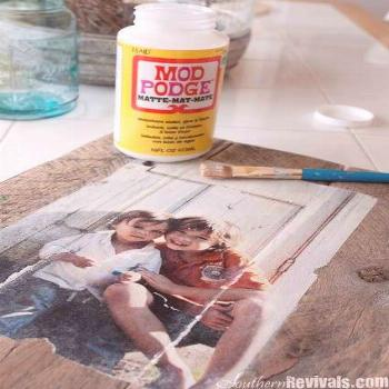 DIY: How To Transfer A Photo Onto Wood - photos printed on regular copy paper are easily transferre