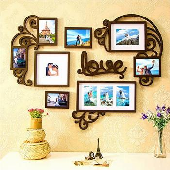 F&A=R Picture Frame Set of Love Heart on Wall Art Decoration