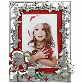 FINE PHOTO GIFTS Pewter Santa Christmas Picture Frame