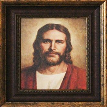 Framed Picture of Jesus Well Done by Del Parson Picture of