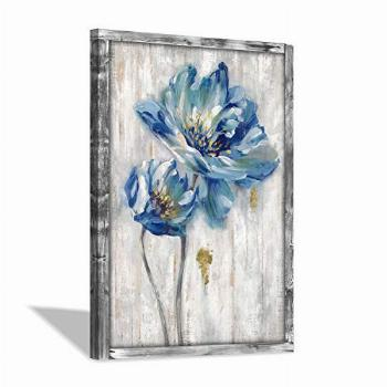 Hardy Gallery Rustic Wooden Flower Wall Art: Blossom Floral