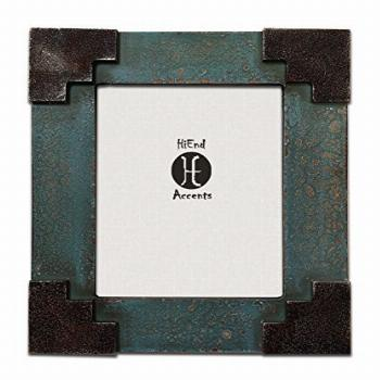 HiEnd Accents Santa Fe Corner Frame, 6 by 8-Inch, Turquoise