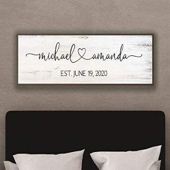 Master bedroom wall decor over the bed-marriage