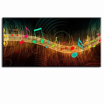 Music Wall Art for Bedroom Above Bed, PIY Modern Musical
