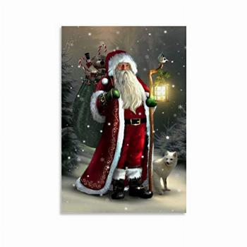 The Beautiful Image of Santa Claus Posters Canvas Art Poster