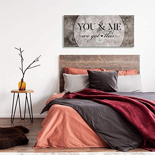 Above Bed Lovers Art   You and me we got This V5   Wood