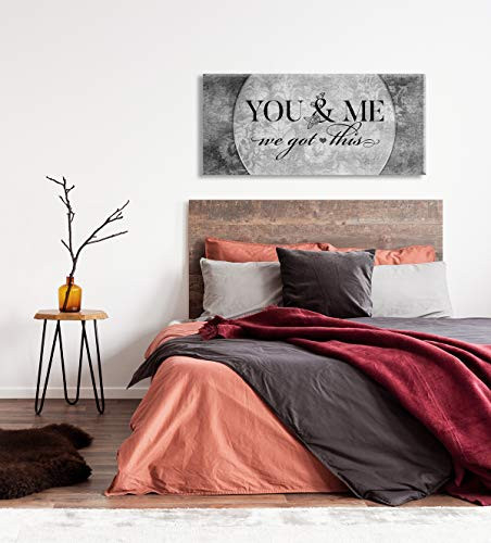 Above Bed Lovers Art | You and me we got This V5 | Wood
