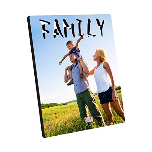 Add Your Photo or Text on Wood Picture Frame -- Personalized