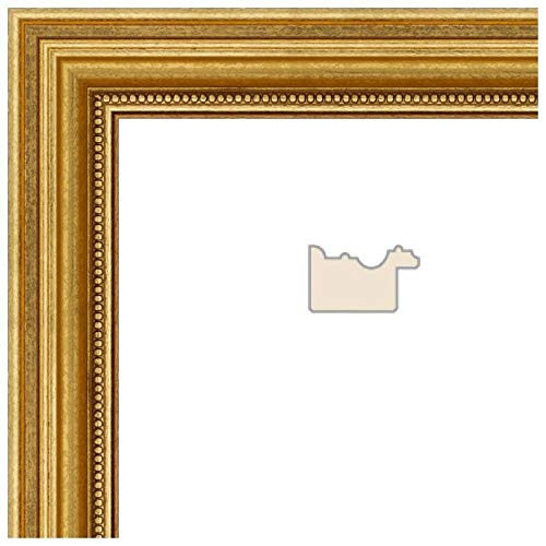 ArtToFrames 13x34 inch Gold Foil on Pine Wood Picture Frame,