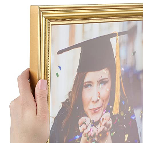 ArtToFrames 8x12 inch Gold Foil on Pine Wood Picture Frame,
