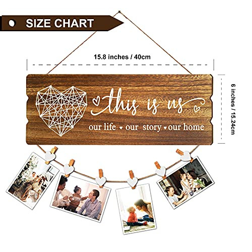 Buecasa Housewarming Gifts New Home Sign Decor - Rustic Wall