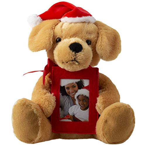 Fine Photo Gifts Plush Santa Dog with Picture Frame