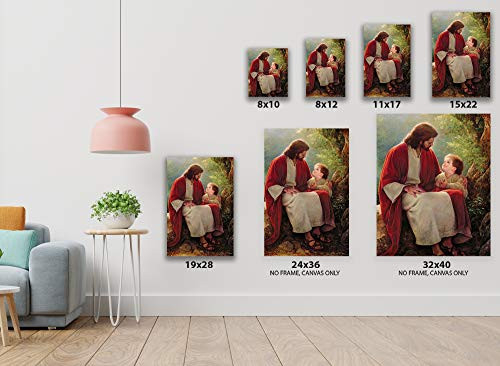 Funny Ugly Christmas Sweater Christian Canvas Wall Art Jesus