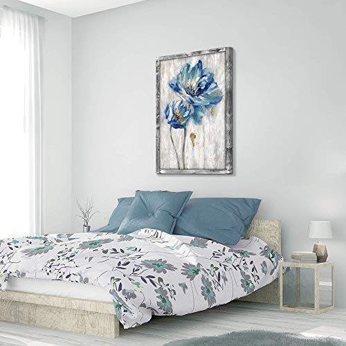 Hardy Gallery Rustic Wooden Flower Wall Art Blossom Floral