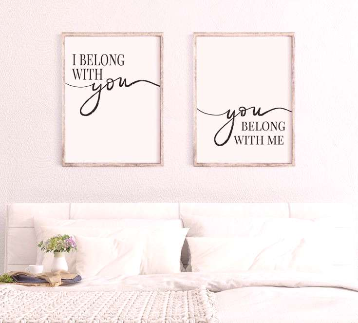 Printable Wall Art DIY Printables from Hoot and a Holler Designs I Belong With You You Belong With