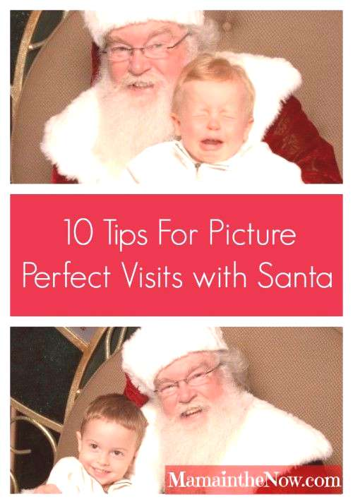 Ten Tips for Picture Perfect Visits with Santa! Take the stress and tears out of your annual visit