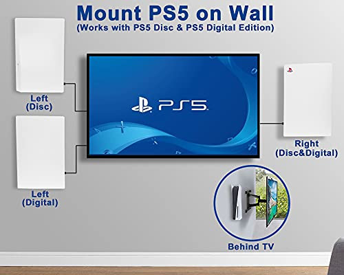 Wall Mount for PS5 Playstation 5 Disc Edition and Digital